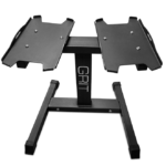 Black Dumbbell Stand for 55lb Grit Adjustable Dumbbells